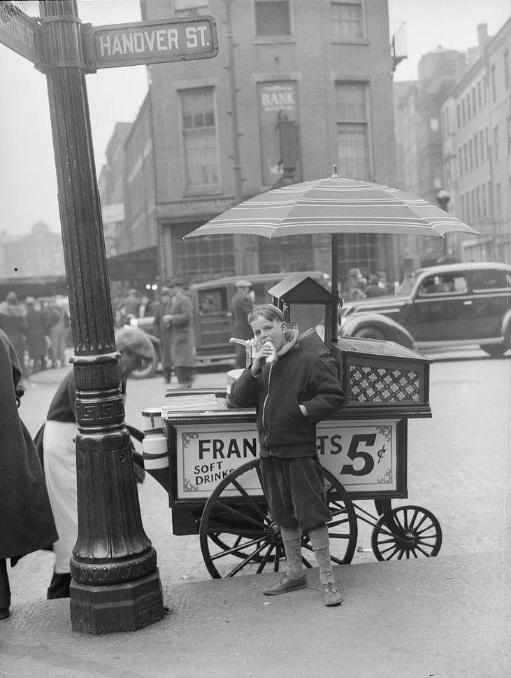 hotdog stand north end 1937